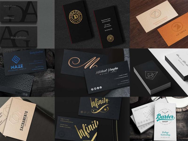 Επαγγελματικές κάρτες με τη μέθοδο letterpress printing.